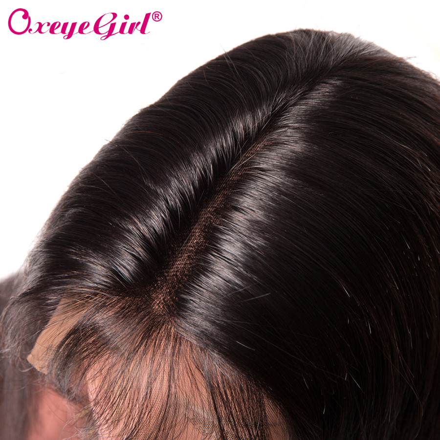 Glueless Full Lace Human Hair Parykker Med Baby Hair Brasilian - Menneskehår (sort) - Foto 4