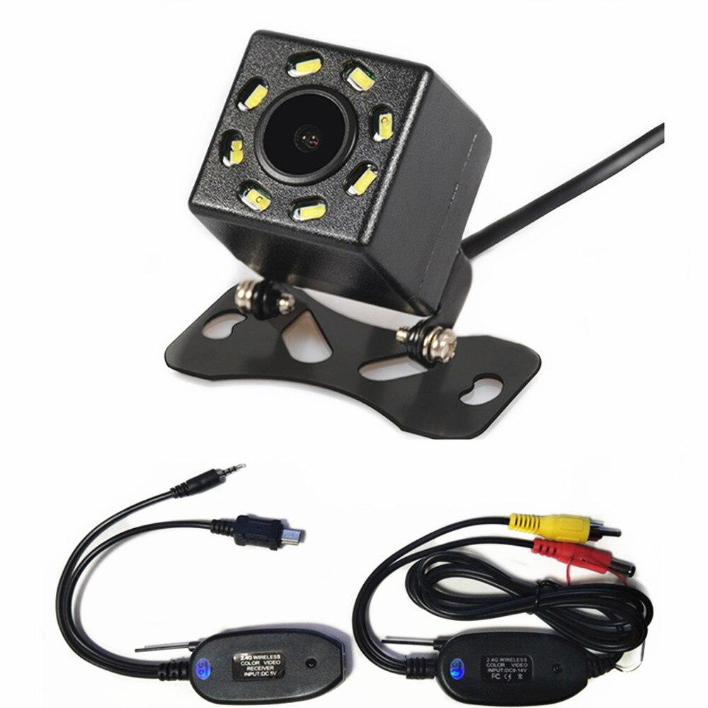 Водонепроницаемая HD Беспроводная Автомобильная камера заднего вида с 8 светодиодный и ночным видением