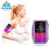 AONIJIE Women Men Running Bag Mobile Phone Touch screen Arm Belt Movement  Wrist