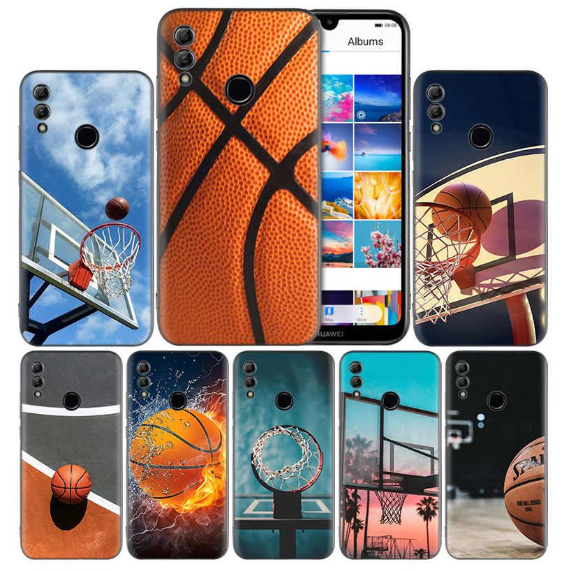 Баскетбол Pattern Силиконовый чехол Обложка для huawei Honor 8X 8C 8A 8S 10 10i Lite Play V20 Y9 Y7 Y6 Y5 Prime 2018 2019 бампер сумки