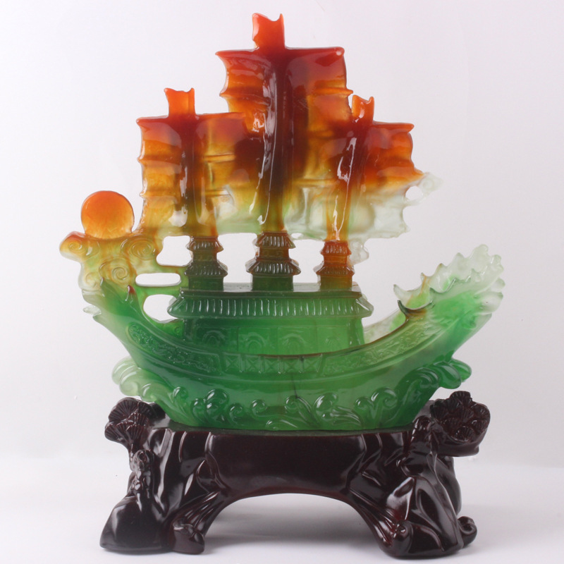 2015 new Resin crafts imitation jade processing Yiwu smooth ornaments creative gifts manufacturers wholesale N90 - 3