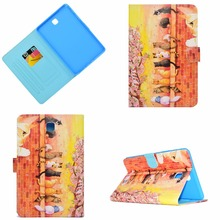 цена на For Samsung Galaxy Tab A 8.0 T350 Case, Printing Smart Cover Case For Samsung Tab A 8