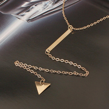 Tassel Triangle Long Necklace