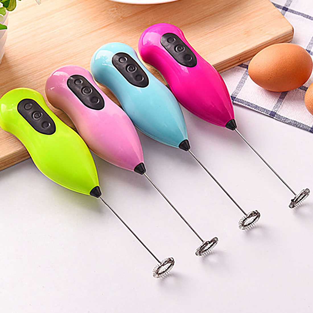 Hot Sale Kitchen Accessaries Stainless Steel Electric Milk Frother Foamer Whisk Mixer Coffer Stirer Egg Beater