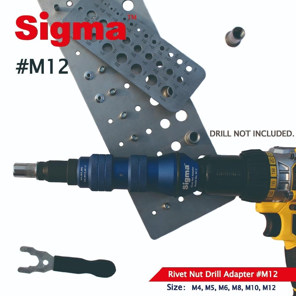 Sigma Drill-Adapter Power-Tool-Accessory Rivet-Nut Threaded Cordless Heavy-Duty Electric
