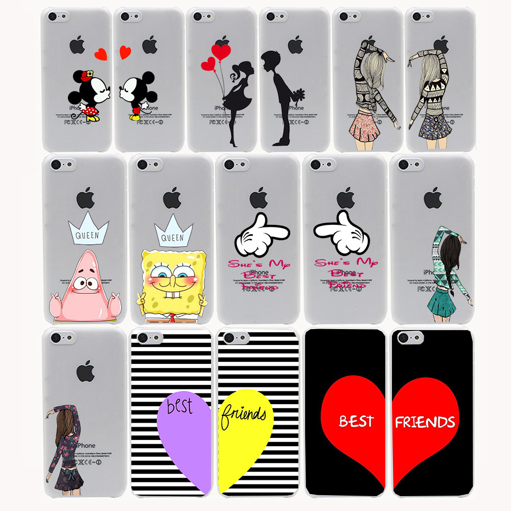 cute Mickey kiss bbf best friends lover Hard Transparent Case Cover for  iPhone 4 4s 5 d8d6aff6a38c3