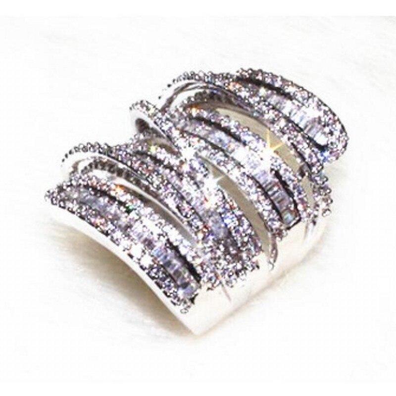 New Jewelry Majestic Sensation Wide Jewelry 20ct 5A zircon Stone cz 925 Sterling  Silver Women Engagement Wedding Band Ring 6fffd8891f