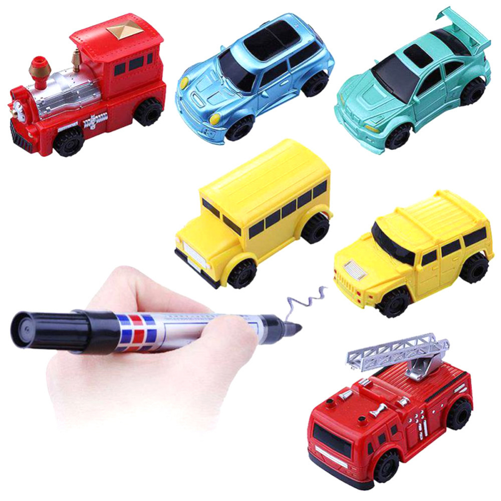 1 шт. Magic Mini Авто-индукции автомобиль с ручкой индуктивной игрушечный автомобиль детей грузовик Игрушечные лошадки образом черная линия Magic ...