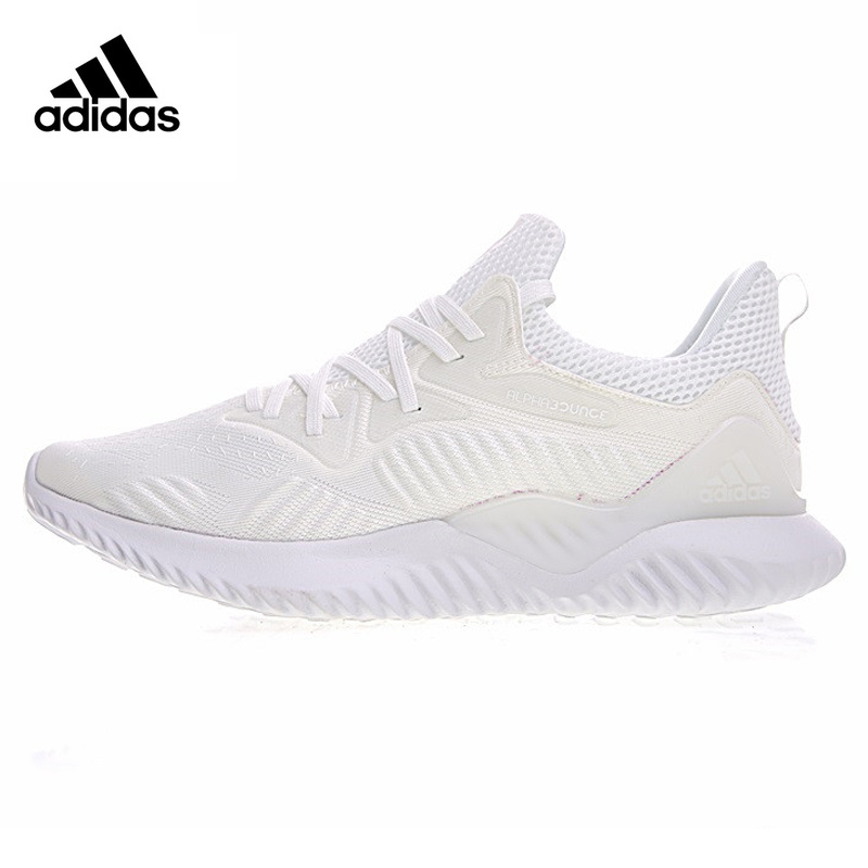 Adidas AlphaBOUNCE Beyond Men's Running Shoes, White/Grey, Shock-absorbing Breathable Lightweight Non-slip CP8825 DB1126 water absorbing oil absorbing cleaning cloth