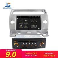 JDASTON 1 Din Android 9.0 Car DVD Player GPS Navigation For Citroen C4 Quatre Triumph 2004 2012 Car Multimedia Radio WIFI Audio