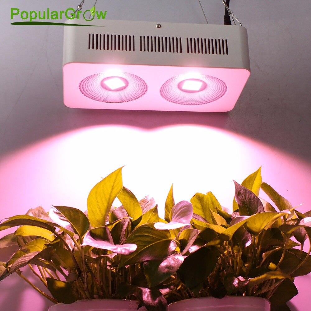 Populargrow 400 W COB LED à spectre complet pousser la lumière pour cultiver la boîte de tente/serre intérieure/centrale hydroélectrique commerciale similaire à la lumière du soleil