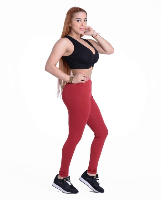 b6815b91ff25 Wine red High rise waistband Stretchy Sports Workout pants Running Jegging  Jogging Gym Dance wholesale Fitenss
