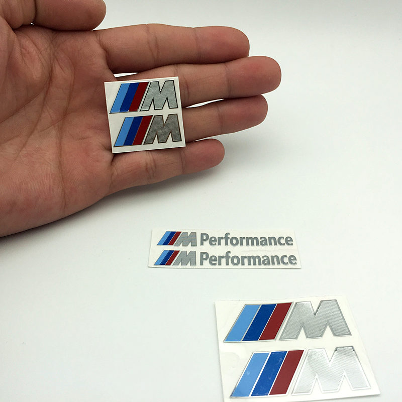 YONGXUN Car Decoration M Performance Motorsport Aluminum Stickers Decals for BMW E34 E36 E39 E53 E60 E90 X1 X3 X5 X6 Series cool car auto decoration badge stickers m logo metal 3d car sticker for bmw m3 m5 x1 x3 x5 x6 e36 e39 e46 e30 e60 e92 all model