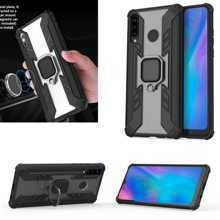 For Huawei P30 lite Case Armor PC+TPU Clear Cover Finger Ring Holder Phone Case For Huawei P 30 Lite Pro Cover Shockproof Bumper цены