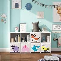 3D cartoon animal folding Toy Storage Box Cube sundries storage Bin for Children Toys Books Clothes Organizer storage basket