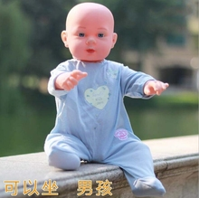 High quality 50CM simulation rebirth dolls soft / baby bath lovely children early education China boy toys 1pc mannequin B264