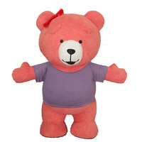 Teddy Bear Inflatable Costume Inflatable Teddy Bear Cosplay For Advertising 2M Tall Customize For Adult For 1.6m To 1.85m Adult