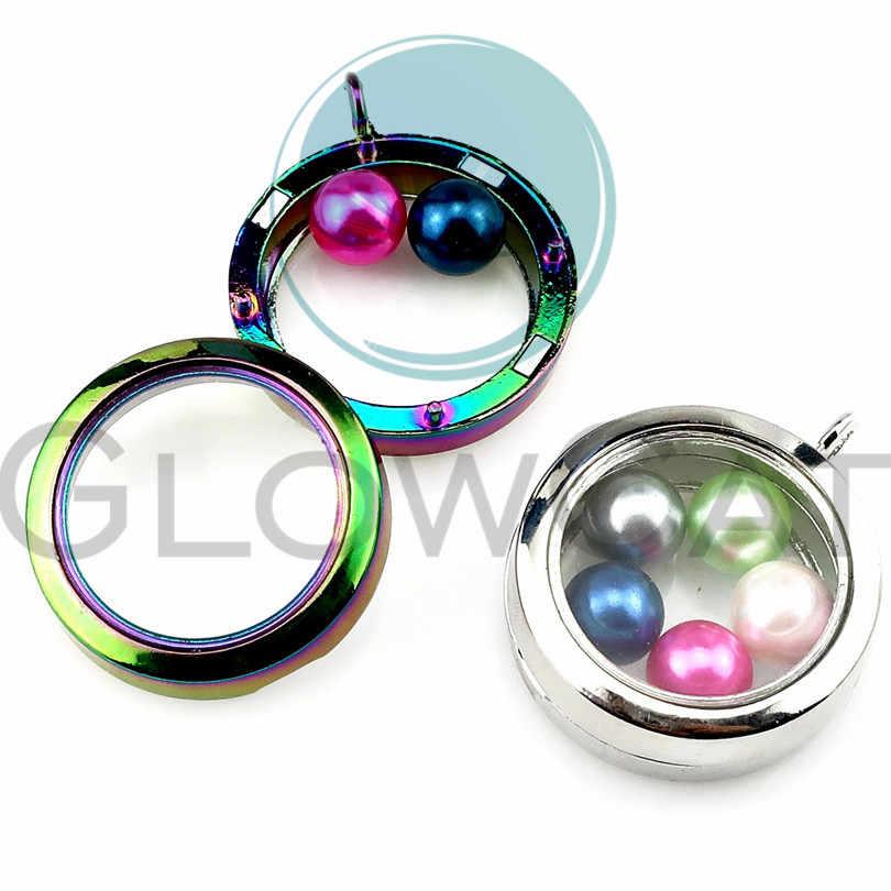 Плавающий жемчуг кулон стеклянный медальон жемчужная клетка Магнитная подвеска для 8 мм/10 мм жемчуг (смешанный цвет)