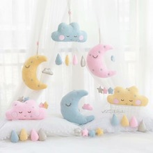 cute Sky Series Stuffed Moon, Star Clouds  Plush Baby Toys Soft Cushion Nice baby sleeping Pillow kids gifts home decor все цены