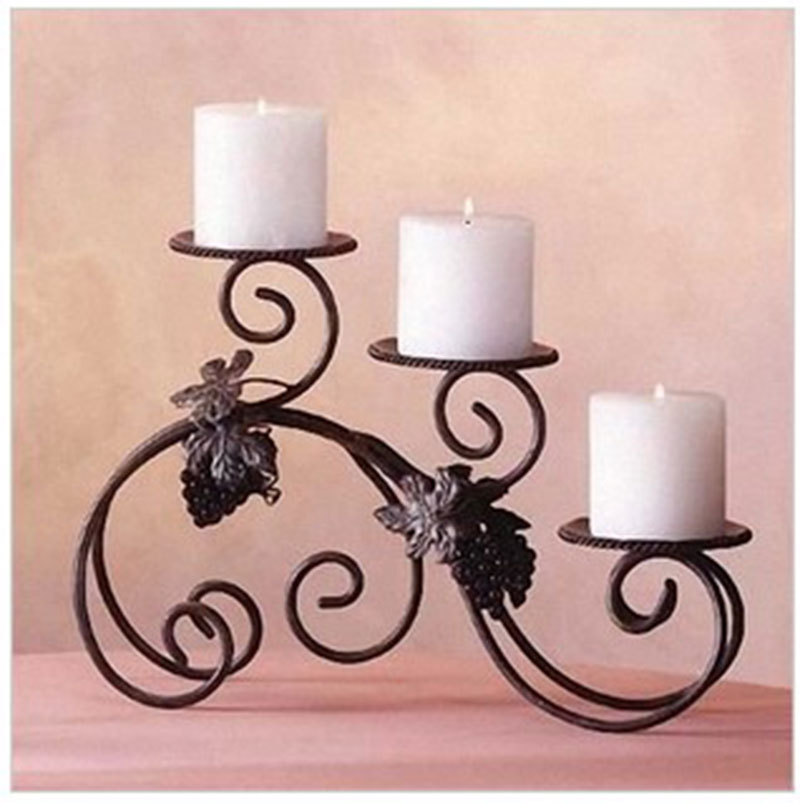 Cast Iron Candle Holders Home Decoration Candle Stand Handmade Iron Crafts Flower Stand Base Desktop Party