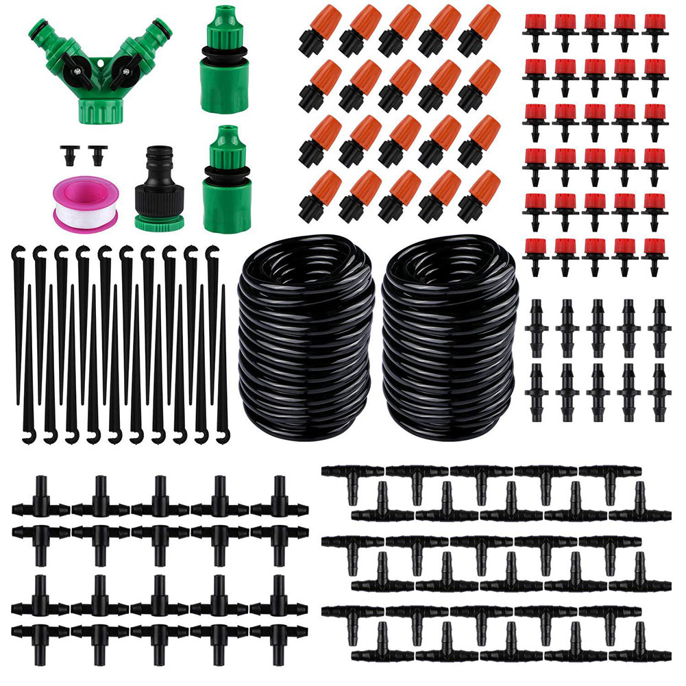 30m Equipment Lawn Plants Emitter Drip Irrigation Kit For Garden System Flow Control Flowers Automatic Watering DIY Greenhouse