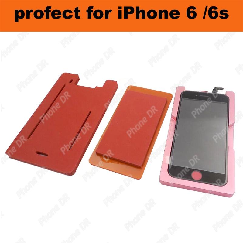 bilder für Frontglas Mit Rahmenform LCD Laminierung Weiche Silikon-pad Form für iphone 6/6 s kaltpressung rahmen silica gel pad form schaum