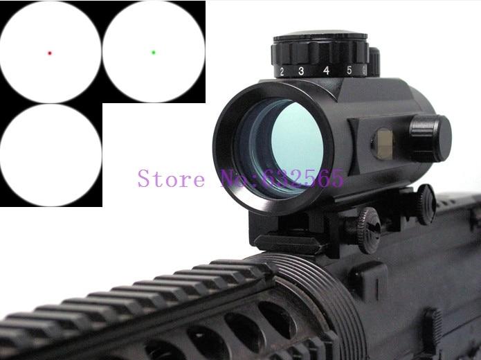 Tactical 1x30 Red Green Dot Sight Rifle Reflex Gun Sights Scope W/20mm Weaver Mounts For Hunting