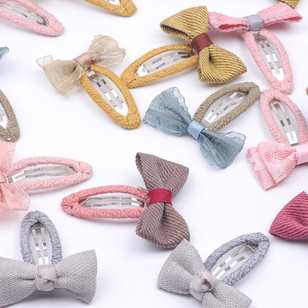 Cute Kids Quality Wool Blends Bow Snap Hair Clips Bow Barrettes Children Cute Hair Clips Headband Kids Hair Accessories in Hair Accessories from Mother Kids