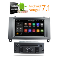 Nova Android 7 12017 Auto Glonass GPS Navigation Car DVD Stereo Headunit For Peugeot 407 2004