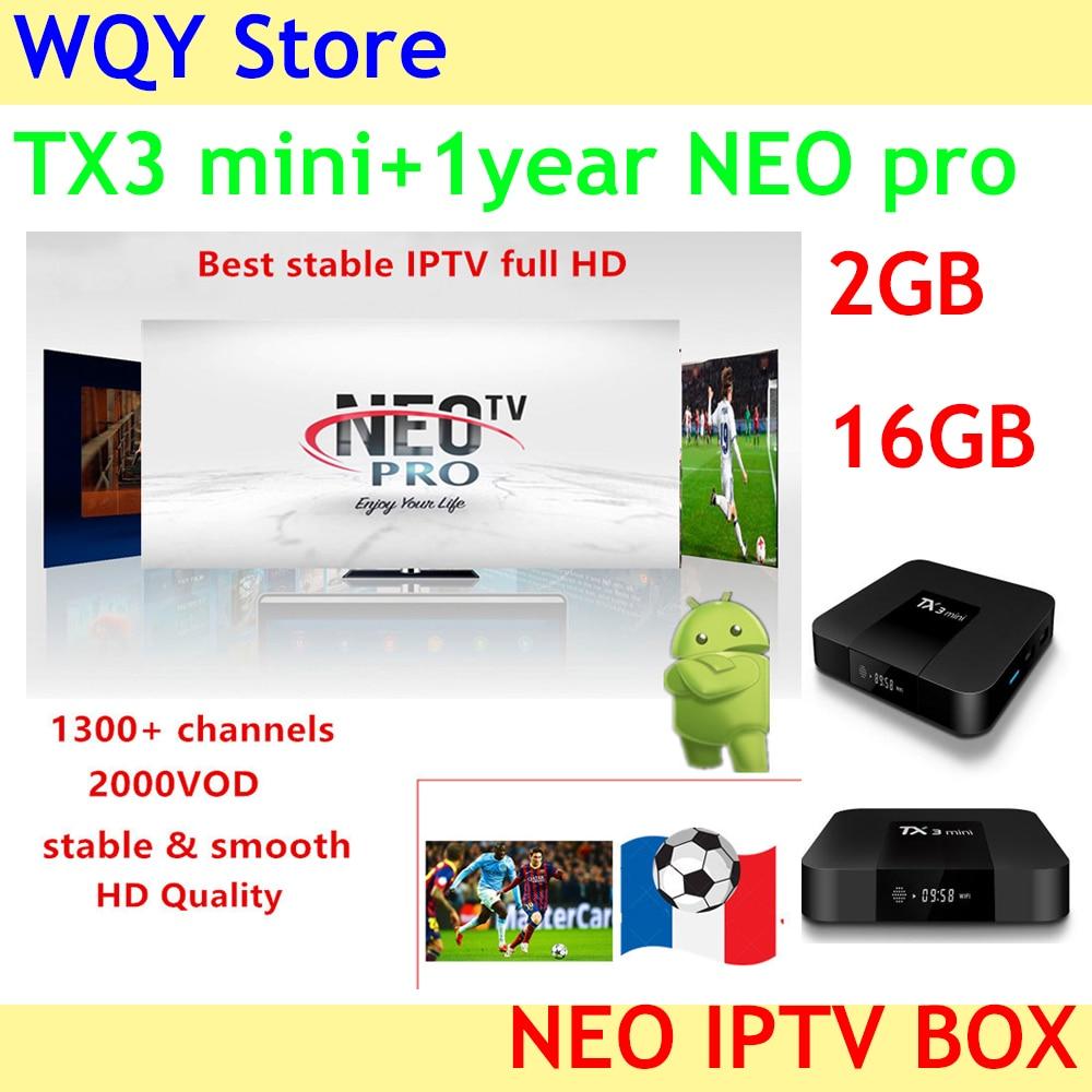 TX3 mini Neotv pro IPTV Subscription arabic europe french italian stream live tv code iptv 1300