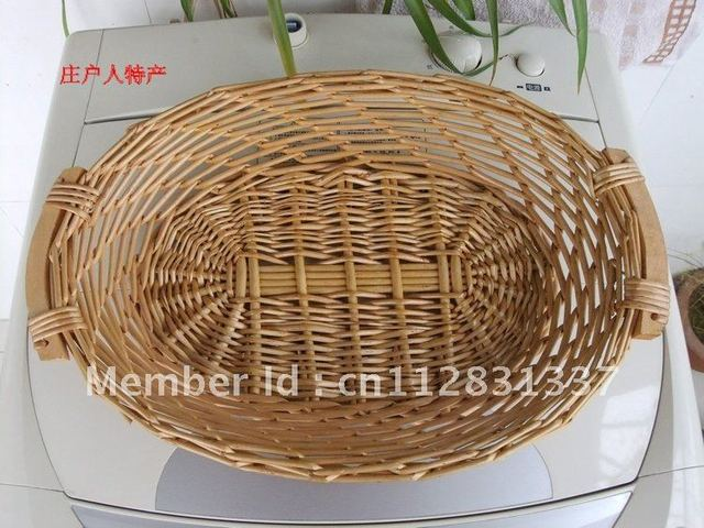 Beautiful flower baskets/Willow fruit basket/Can be customized