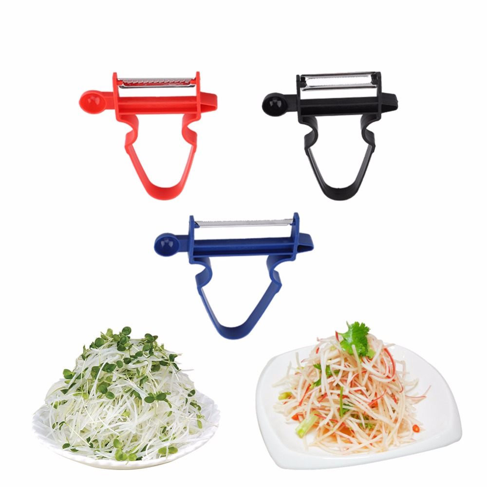 Magic 3pcs Peeler Set Trio Peeler Multi Slicer Shredder julienne Fruit Cutter RD