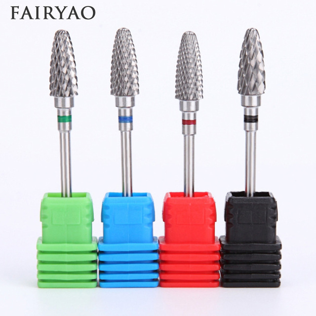 HOT Tungsten Carbide Milling Cutter Nail Drill Bit Nail Art Tool For Electric Manicure Drill Machine Accessory Remove gel 5Type