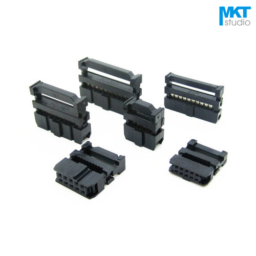10Pcs Female 2.54mm Pitch FC IDC Connector Socket ISP JTAG Header For Flat Ribbon Cable Sample 6P 8P 10P 12P 14P 16P 18P 20P