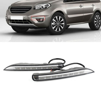 Auto Car LED DRL Driving Daytime Running Lights Turn Signal Lamp White Yellow Blue Daylight For