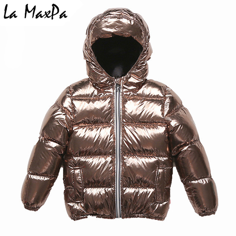 2018 Brand Winter Hooded Kids Silver Down Jacket Boys Girls White Duck Down Coat Baby Thicken Warm Outwear Snow Coat Clothes 2018 winter children down coat kids thicken warm 80% white duck down hooded jacket baby boys girls casual outerwear 4 12t