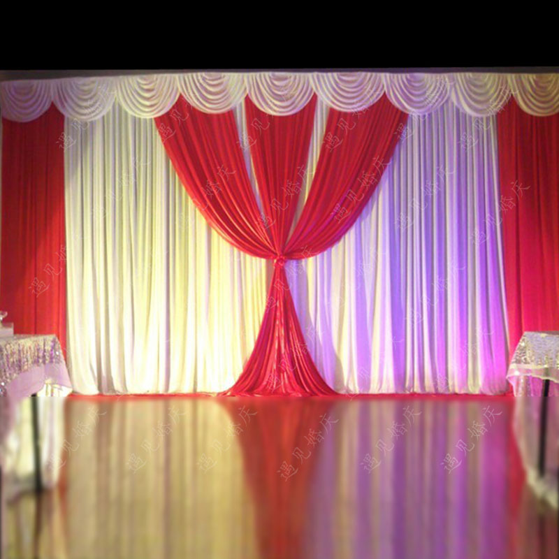 2017 wedding background wedding curtain drapery wedding for Background curtain decoration