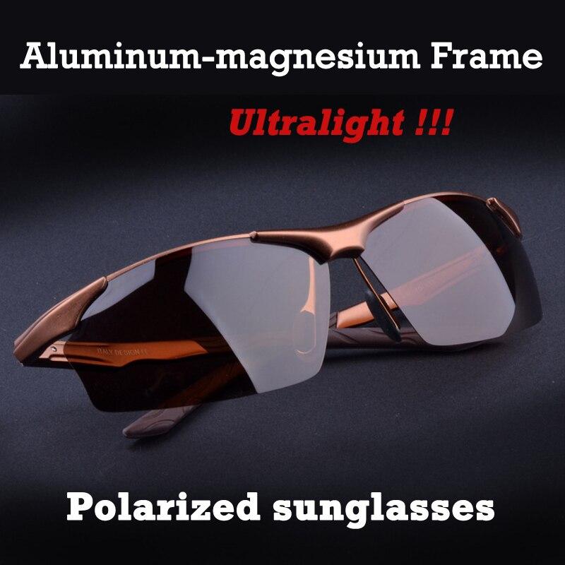 Heißer Aluminium magnesium legierung männer polarisierte sonnenbrille fahren spiegel gläser männliche brille brillen mode fahren sonnenbrille