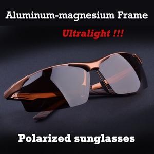 Image 1 - Sıcak Alüminyum magnezyum alaşımlı erkek polarize güneş gözlüğü sürüş ayna gözlük erkek gözlük gözlük moda sürüş güneş gözlüğü