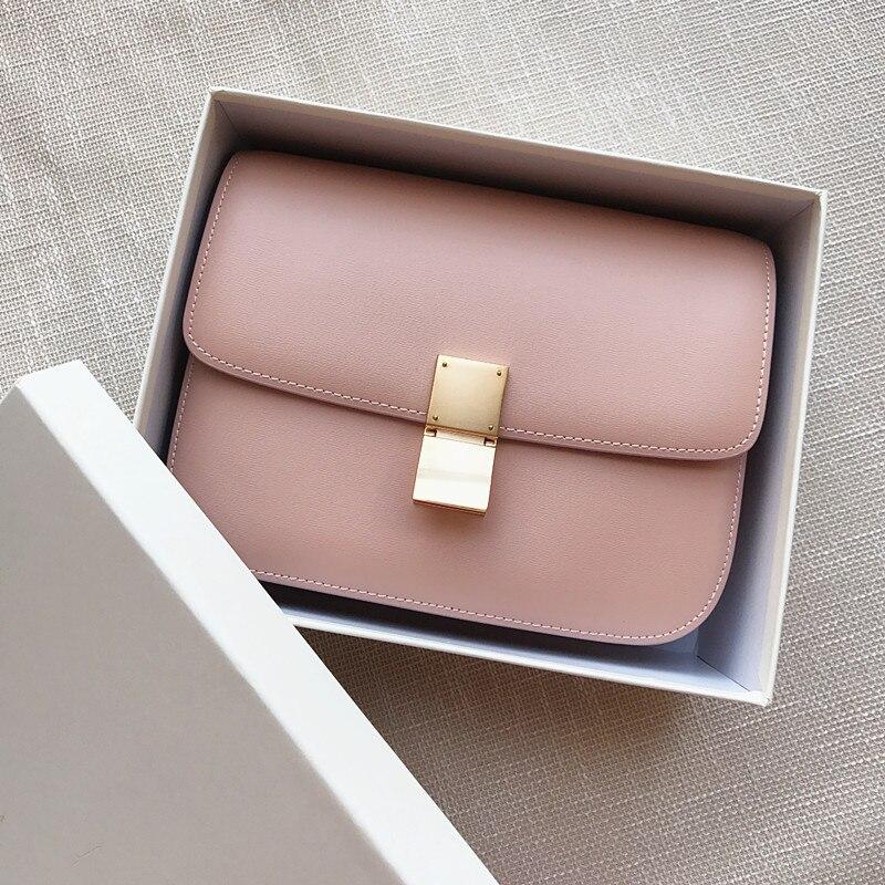 High Quality Genuine Leather Women Shoulder Bags Designer Handbag Pink Bag For Girls Bolsos Para Mujer