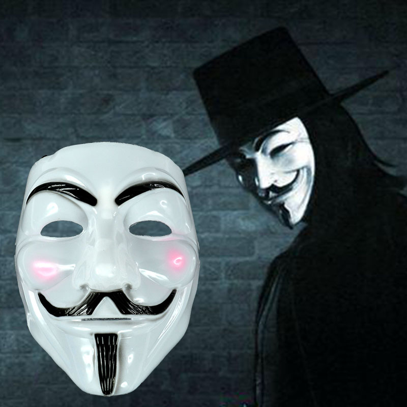 Face mask halloween details about new v for vendetta anonymous film guy fawkes fancy cosplay in - Masque halloween film ...