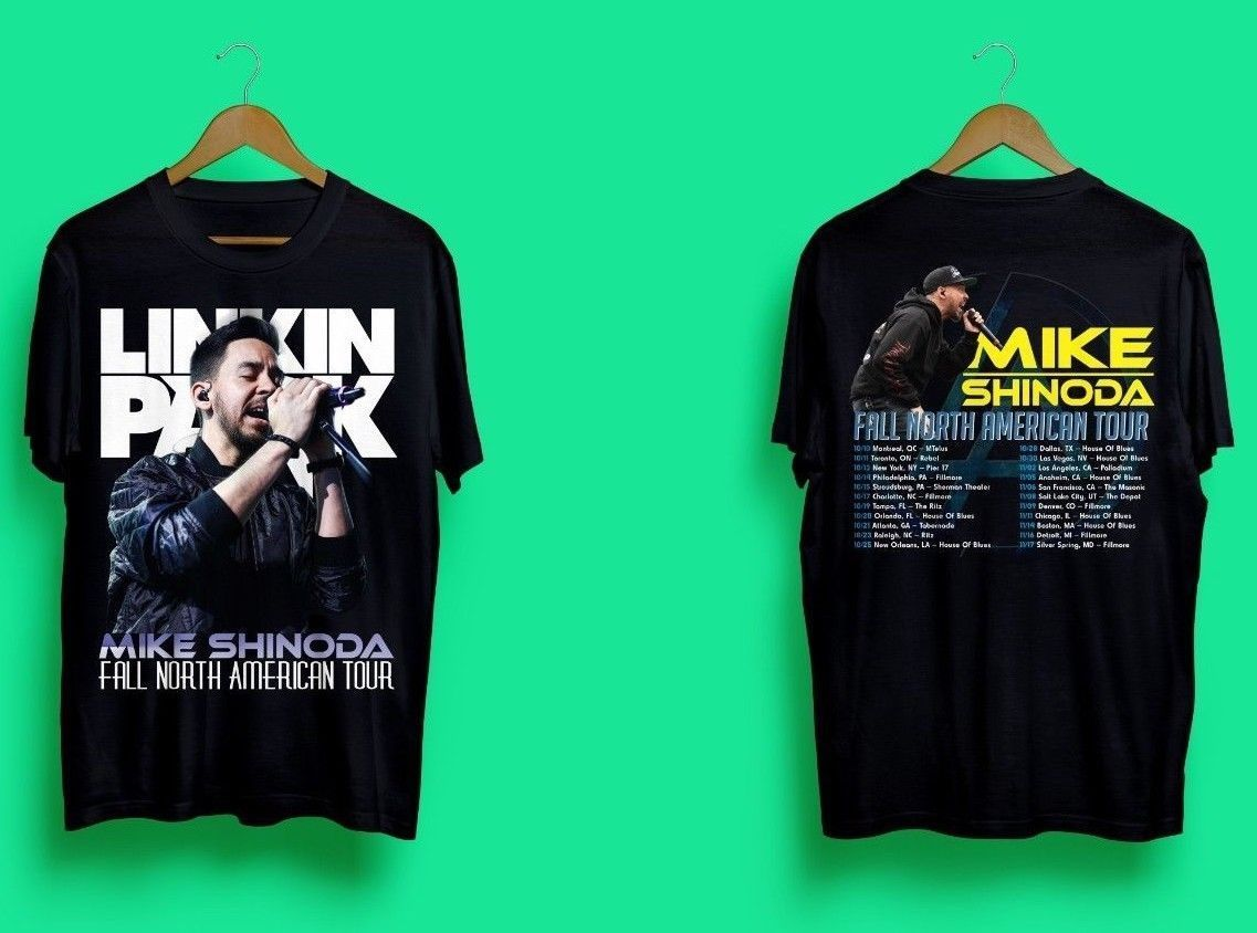 b629a7526066 Limited New Mike Shinoda Linkin Park North America Tour 2018 T-Shirt Size S-