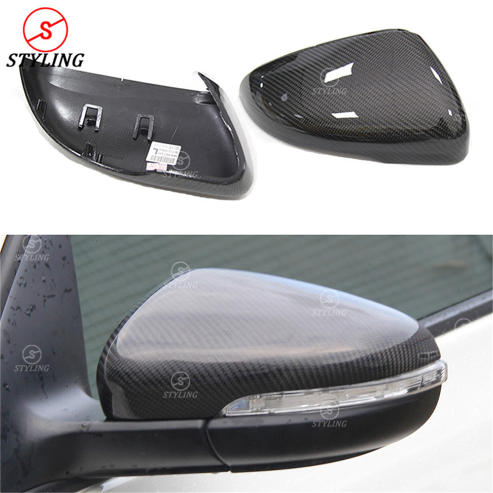 For Volkswagen Golf 6 GTI R20 MK6 Carbon Fiber Rear View caps Mirror Cover MK6 mirror cover car styling 2008 2009 2010 2011 2012 high quality golf 6 mk6 carbon fiber full replacement car review mirror cover caps for vw golf6 mk6