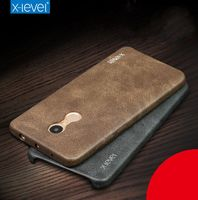 X Level Brand Luxury Vintage Series PU Leather Back Case For Xiaomi Redmi Note 4 Quality