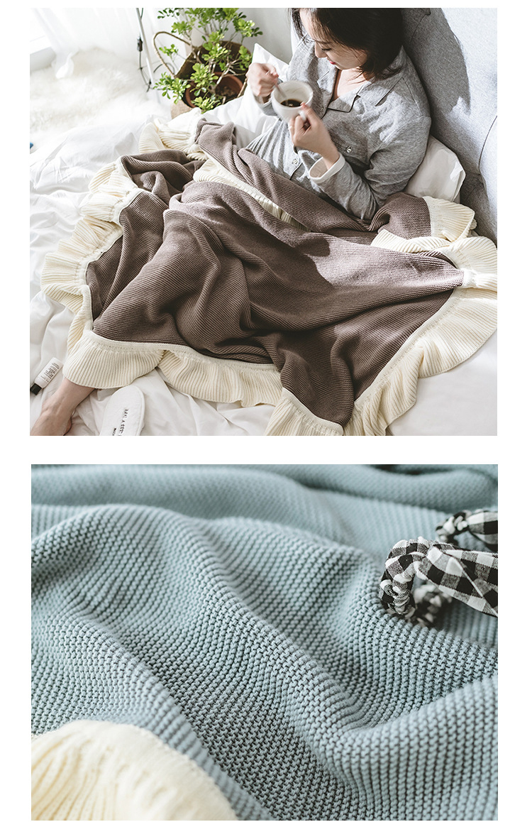 Home & Garden Giantex Cotton Knitted Plaid Winter Nordic Throw Blanket For Beds Adult Bedspread On The Bed Sofa Manta Mantas De Cama Koc Deken Blankets