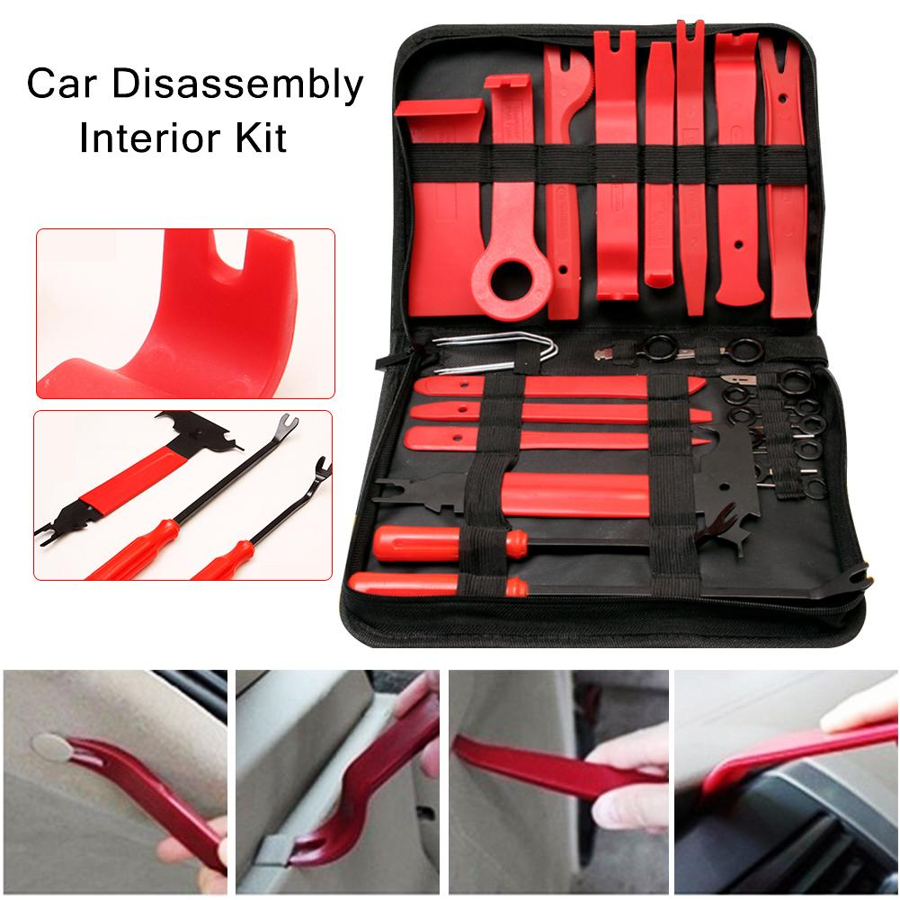 30PCS/Set Car Audio Interior Removal Tools Dashboard Car DVD Player Modification Tools Car Interior Panel Audio Removing Kits