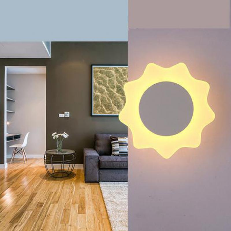 Bathroom Led mirror light novelty modern indoor Wall lamp lighting 8W Art Deco AcrylHoliday bedside sunflower Wall light sconce luxurious crystal wall lamp metal plating modern wall light hotel ideas wall lights indoor modern wall lamps art deco lighting