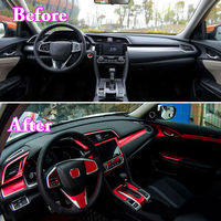 8 Colors avaliable 35pcs Gear Shift Full Stickers Cover Trim Decal For Honda Civic 2016 2017 Car Styling Decoration Accessories