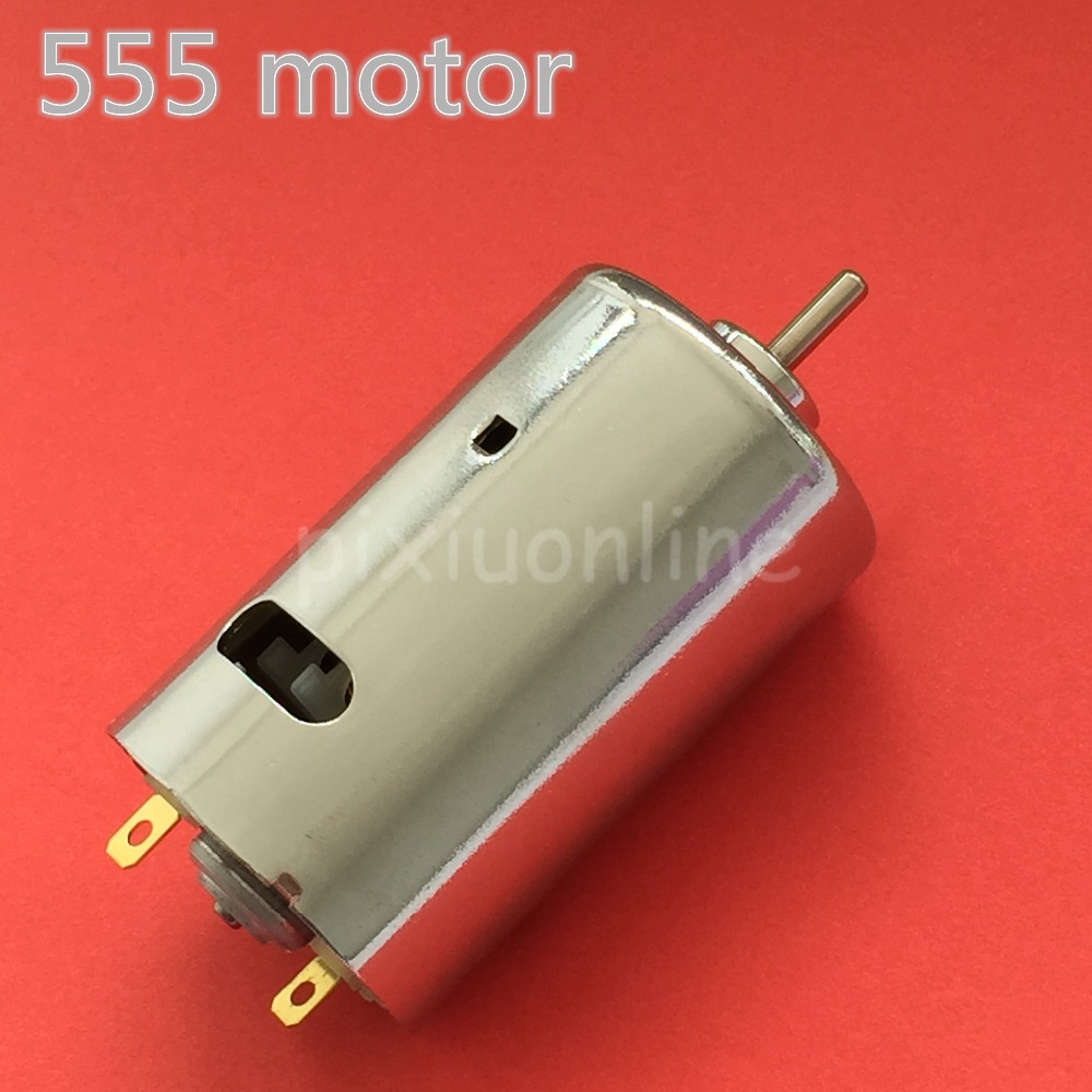 1pc K246Y 12-24V 555 Ball Bearing Mini DC Motor DIY Model Car Motor Great Power Parts Sale at a Loss Fracne