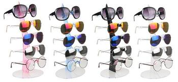 free Shipping Fashion Sail 5 Pairs Glasses Display Stand Counter Plastic Sunglasses Display Props  Sunglasses Display Rack free shipping sensor la8n bn la8n bf le8n bn le8n bf autonics counter digital display counter timer